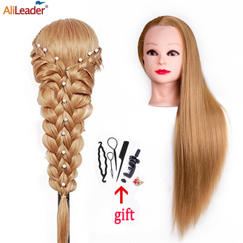 Alileader Professional Training Head Blonde Long Hair Hairdressing For Hairstyles High Quality Mannequin
