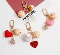 New 10 set Cartoon Jingle bells Japanese anime boys head cute Keychain Jewelry Accessories Key Chains Pendant Gifts Favors
