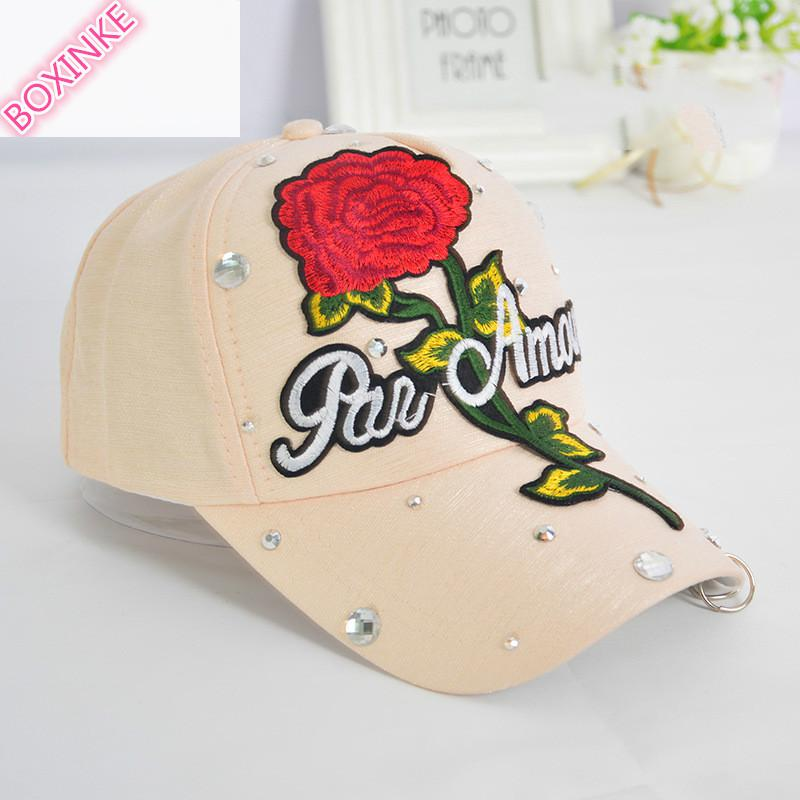 2019 New Real Gorras Women Pokemon Go Dad Hat Neymar Embroidered Rose Duck Tongue Cap Lady's Decorated Baseball Summer Sunshade 6