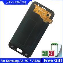 スーパーamoledサムスンギャラクシーA5 2017 A520 A520F A520F/ds液晶ディスプレイタッチスクリーンの交換デジタイザ