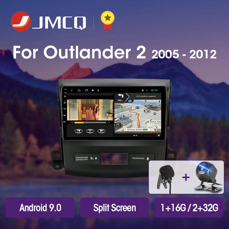 JMCQ T3L For <font><b>Mitsubishi</b></font> <font><b>Outlander</b></font> xl 2 2005-2012 Car Radio Multimedia Video Player Navigation GPS Android 9.0 DSP 2din 2 Din IPS image