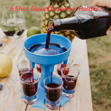6 Shot Glass Dispenser Holder Bar Cocktail Wine Rack Accessories Carrier Caddy Dispenser Beer Quick Filling Tool Barware Drink