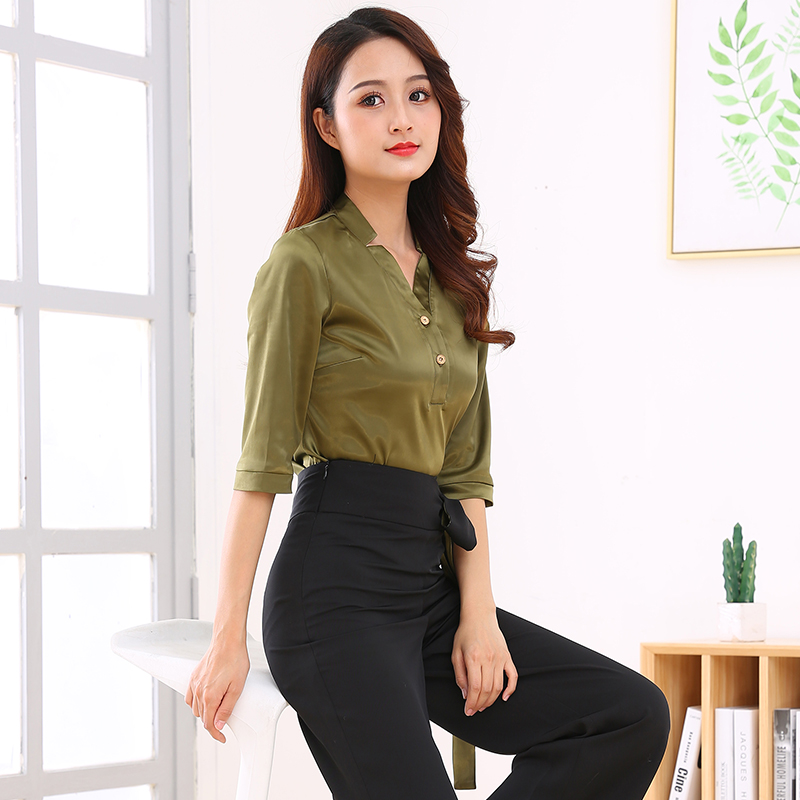 Health Club Work Clothing Women Beauty Uniforms Teahouse Waitress Clothes Beauty Salon Beautician Uniforms Spa Uniform Suit