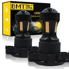 2x BMTxms PY24W 5200s LED Car Turn SIgnal Lâmpada Luz Canbus Para Audi A4 B8 Q5 BMW X3 E90 E92 E83 E70 F10 F11 F07 Mercedes W221