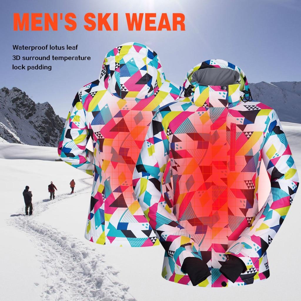 Winter Men And Women Ski Jacket Waterproof Cold Windproof Windbreaker Fashion Outdoor Skiing Warm Breathable Coat Outwear