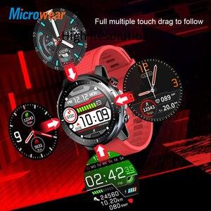 "Image 3 - חדש Microwear L15 חכם שעון גברים IP68 עמיד למים smartWatch אק""ג PPG לחץ דם קצב לב ספורט כושר Smartwatch"