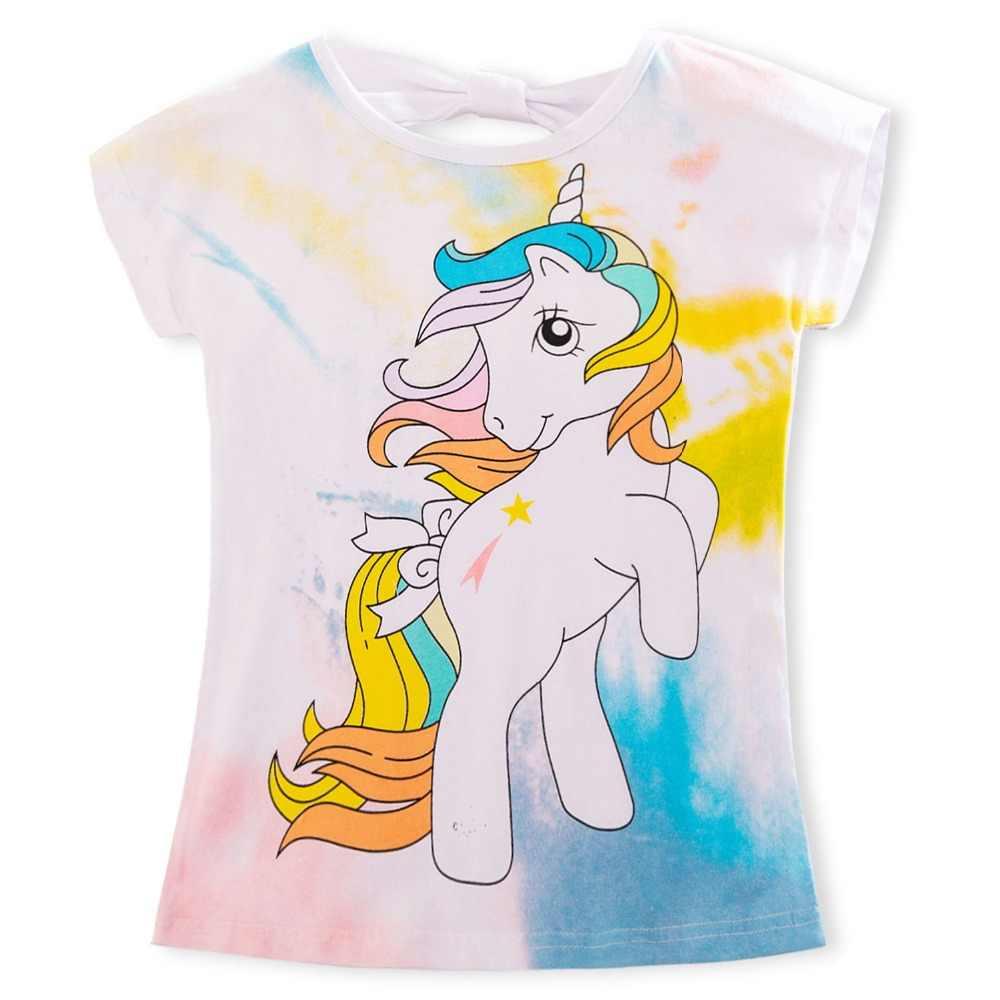 2020 קיץ אופנה יוניסקס חד קרן חולצה ילדי בני שרוולים קצרים לבן Tees תינוק ילדים כותנה חולצות עבור בנות בגדי 3 8Y