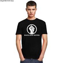 Классический черный живет материя Мужская футболка с круглым