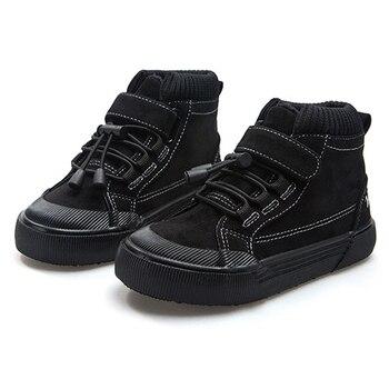Los niños zapatillas de gamuza 2020 nuevos niños niñas Vintage clásico Botas...