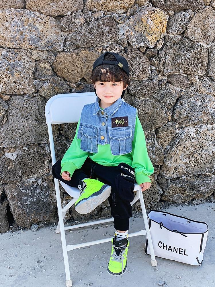 Boys Western Style Sweater Children Tops Tide Paragraph Children Baby 2020 Spring New  Boy Korean Version of Spring 4