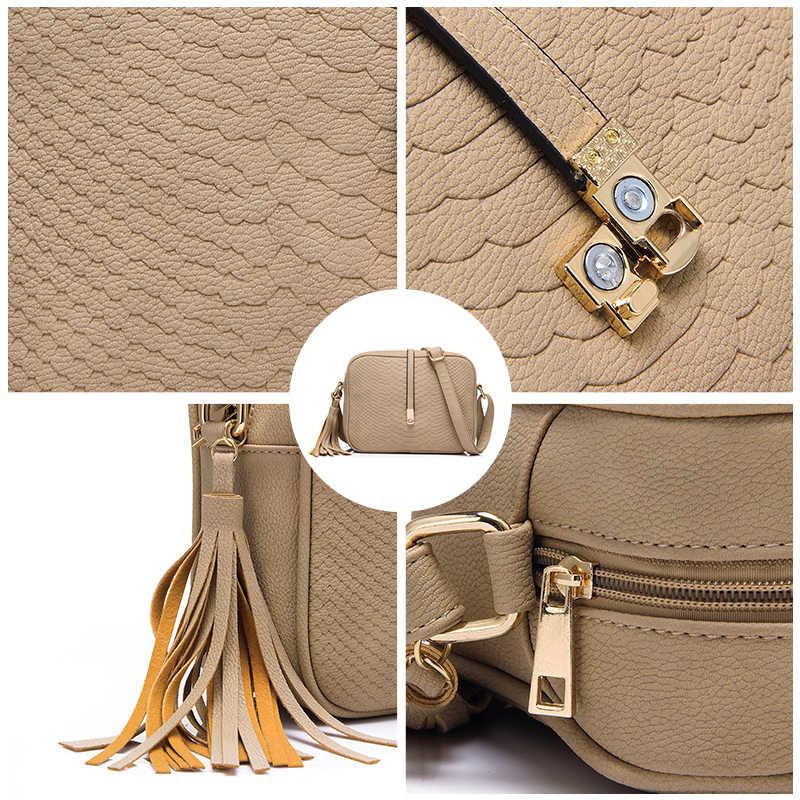 REALER Женщины небольшой сумки Повседневная сумка Мода ретро кисточкой сумки Женский на молнии Сумка Женская сумки новый