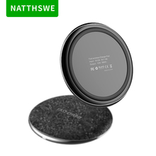 NATTHSWE Mini Round Wireless Charger Pad for iPhone X XS Max