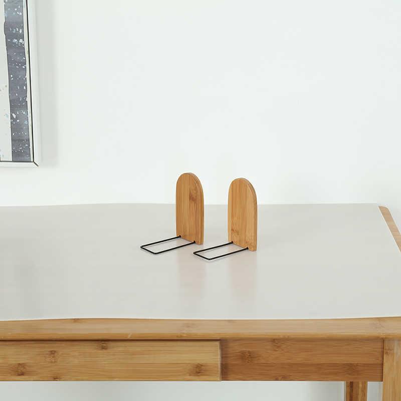 الخشب كتاب حامل منظم سطح المكتب الدفتين كتاب ينتهي الرف حامل طبيعة الخشب كتاب الوقوف