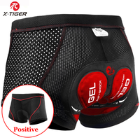 X-Tiger Breathable Cycling Shorts Mesh Men's Cycling Underwear 5D Gel Pad Shockproof MTB Shorts Mountain Racing Bike Underwear 1