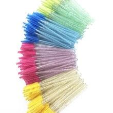 50 pçs/lote compõem escovas descartáveis varinhas de rímel aplicador cílios de olho escovas cosméticas maquillaje extensão pincéis de maquiagem