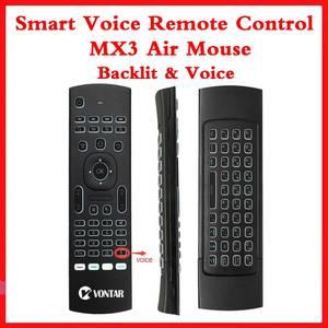 Image 1 - Arka ışık MX3 PRO hava fare ses uzaktan kumanda 2.4G kablosuz klavye MX3 rusça İngilizce IR öğrenme için H96 X96 max TV kutusu