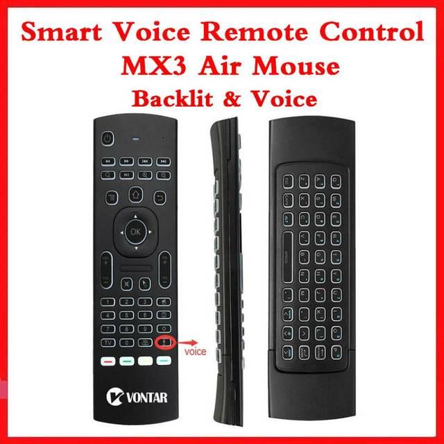 Arka ışık MX3 PRO hava fare ses uzaktan kumanda 2.4G kablosuz klavye MX3 rusça İngilizce IR öğrenme için H96 X96 max TV kutusu