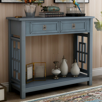 Kitchen Furnitures Buffet Sideboard Console Table Dning Cabinet With 2 Drawers Bottom Shelf Entryway Accent House Sofa Table