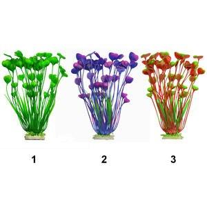 Plant-Decoration Ceramic-Base Aquarium Fish-Tank Aquatic-Plants Plastic Artificial New