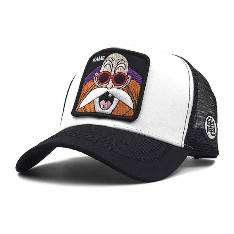 Hot New Japan Anime Dragon Ball Son Goku Cosplay Chapéu Bordado Cap Pico Vegeta Mestre Kame Sunhat Boné de Beisebol Verão presente