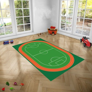 2.3M Skid Resistance Basketball Court Carpet Living Room Baby Crawling Mat Creative Bedroom Green Children Game Blanket X3870