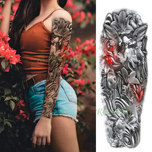 Waterproof Temporary Tattoo Sticker angel butterfly bird flower footprint full arm fake tatto flash tatoo for men women(China)