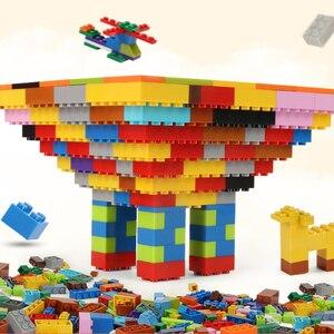 Image 5 - 250 1000 Pcs צבעוני אבני בניין לבני ילדים Creative בלוק צעצועי דמויות לילדים בנות ילד חג המולד מתנות