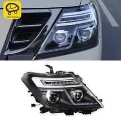 CARMANGO voor Nissan Patrol Y62 Auto-styling Voor Head Light Vergadering Exterieur Vervangende Onderdelen