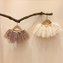 Tulle Skirt Tutu Girl Summer Princess Mesh 6-Layers Ball-Gown Elastic-Waist