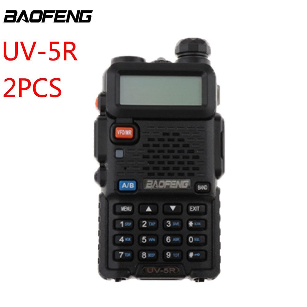 2 шт. Baofeng UV-5R рация профессиональная CB радиостанция Baofeng UV5R трансивер 5 Вт VHF UHF портативная рация
