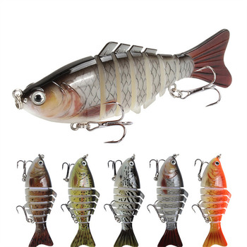 1PCS Wobblers Pike Fishing Lures100mm15g Artificia Bait Trolling Minnow Lure Multi-section Hard Bait Floating Swim Fishing gear 80mm 13g floating croatian egg fishing lure bait crank bait artificial swim bait wobblers fishing popper hard bait single hook