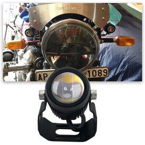 Новинка, Мощный точечный светильник, маленький, для вождения, hi/lo, светодиодный, белый, желтый, Лазерный Пистолет, светильник для мотоцикла, с...