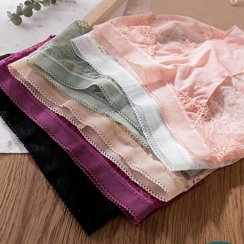 3Pcs Sexy Kanten Slipje Voor Vrouwen Ondergoed Fashion Panty Lingerie Ademend Hollow Out Slips Laagbouw Slipje Vrouwelijke ondergoed