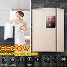3500 Вт мини-подогреватель для воды Электрический Проточный мгновенный нагреватель горячей воды интеллектуальный смеситель для ванной комнаты и кухни водостойкий нагрев