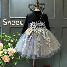 Girl Dress New Autumn Girls Dress Full Sleeve Lace Princess Dress Kids Clothes Party Dress For 3-7 Year Kids Girl 40