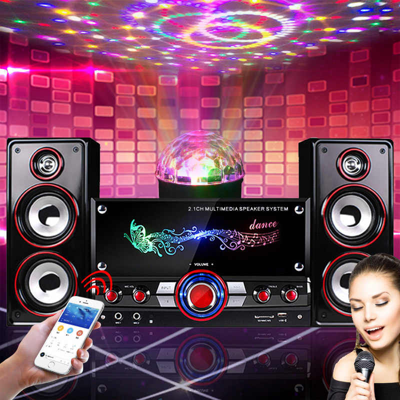 LEORY Home Party Wireless HIFI System Karaoke bluetooth Devices 3D Surround Sound Music Center for Relaxing Yourself Speakers