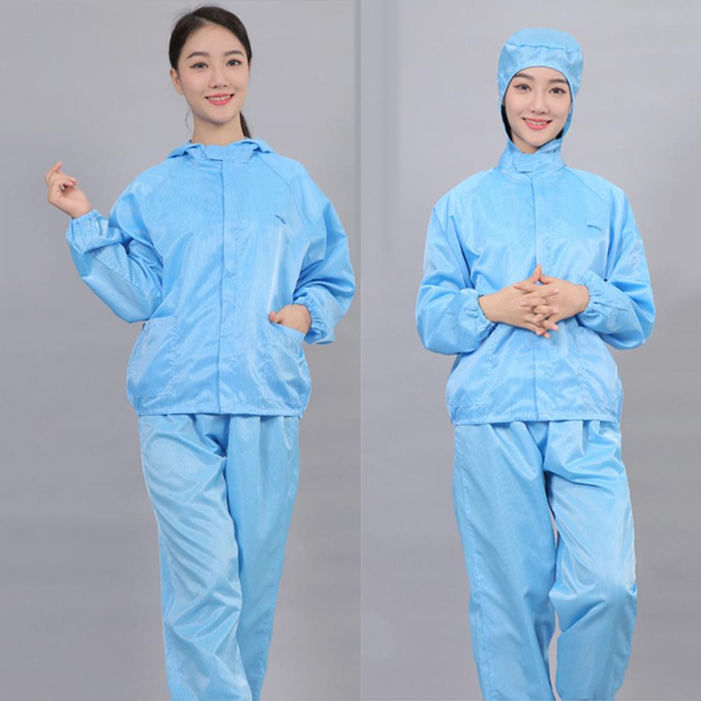 Protection Coverall Suit With Hood Reusable Disposable Coverall Protection Gown Dustproof Protective Gowns Workshop