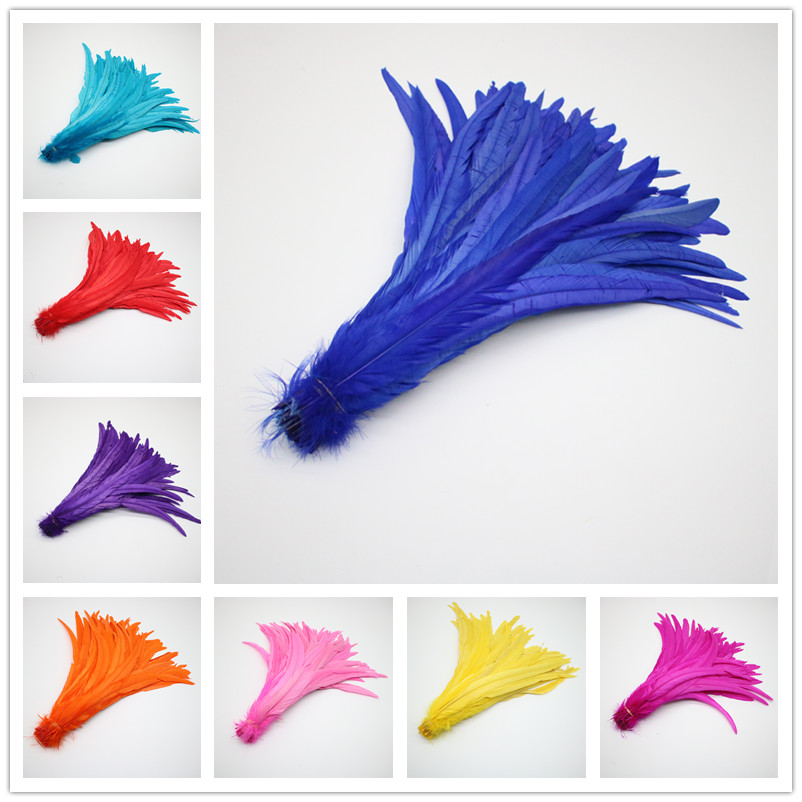 Lampu 10pcs Royal Blue Pheasant Feathers Pheasant Tails 14-16 inches hat DIY Accessories