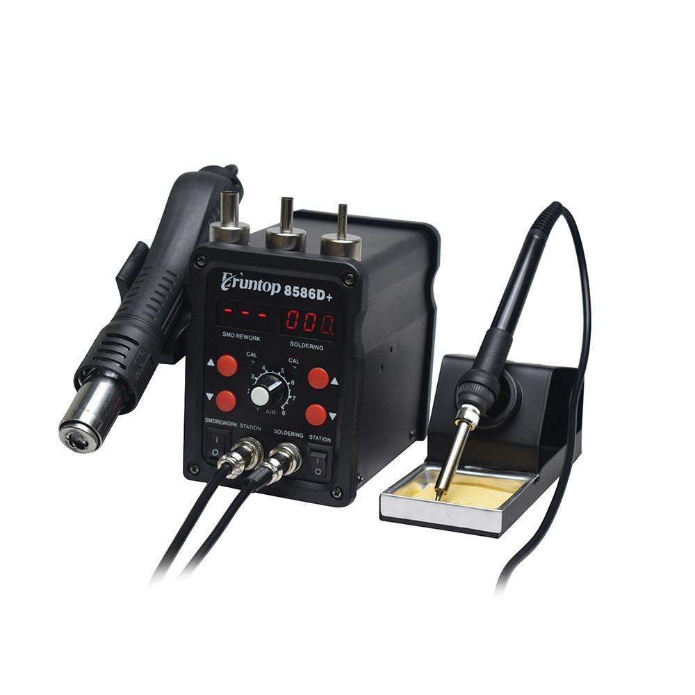 110 / 220V 750W 2 in 1 SMD įrangos perdarymo stotis Eruntop 8586 - Suvirinimo įranga - Nuotrauka 5