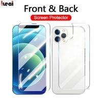 Volle Abdeckung Gehärtetem Glas Für iPhone 12 11 Pro Max mini Screen Protector XR X XS Max 8 7 6 6S Plus SE 2020 panzerglas Zurück Film Glass Zubehör