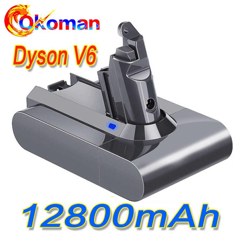 12800mAh 21.6V 12.8Ah akumulator litowo-jonowy do Dyson V6 DC58 DC59 DC61 DC62 DC74 SV09 SV07 SV03 965874-02 odkurzacz baterii
