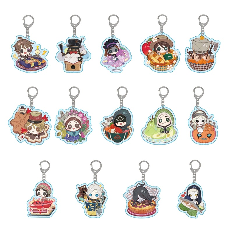 Identity V Keychain Acrylic Man Key Chain Aesop Carl Women Key Ring Game Pendant Kids Key Holder Jewelry