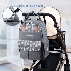 Lekebaby mummy diaper bag backpack With USB Interface Travel Backpack