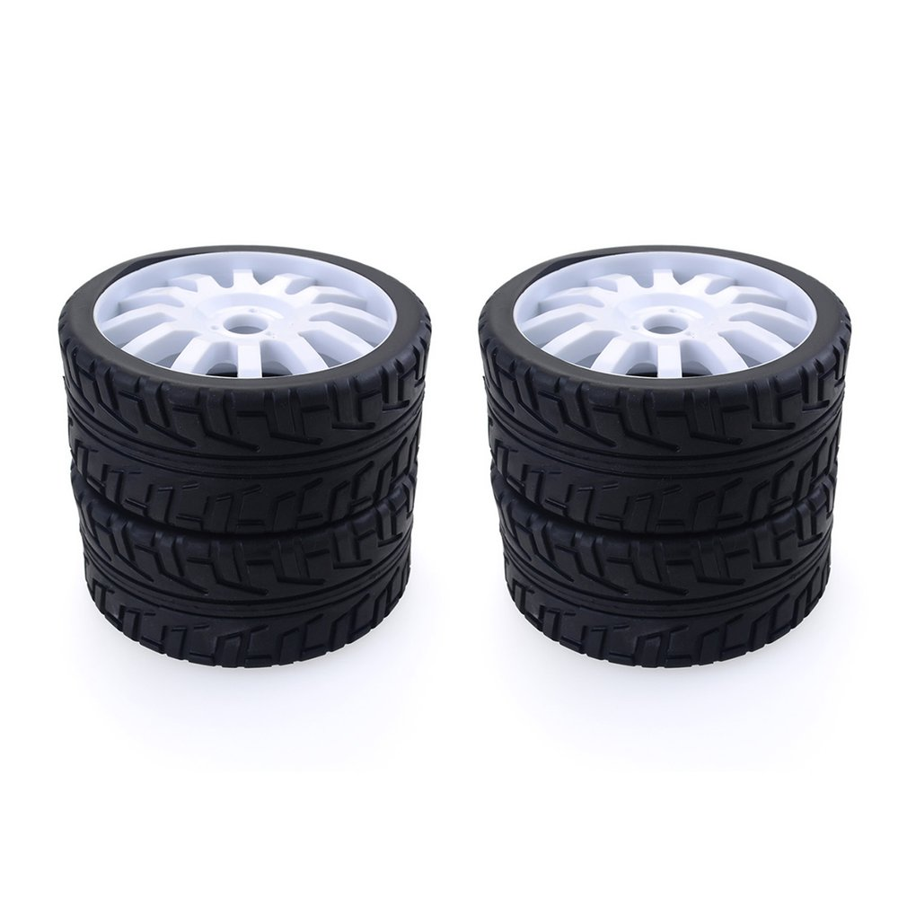 4PCS 1/8 RC Car Rubber Tyres Plastic Wheels for Redcat Team Losi VRX HPI Kyosho HSP Carson Hobao 1/8 Buggy /On road car