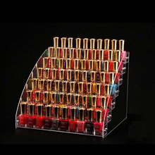 Acrylic Nail Polish Organizer 2-3-4-5-6-7 Layers Cosmetics Essential Oil Bottle Stand Holder Clear Makeup Box Assemble