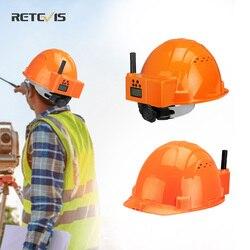 RETEVIS RA616 Helmet Walkie Talkie PMR446 Two Way Radio Headset walkie-talkies Helmet for Construction industry Factory trucker