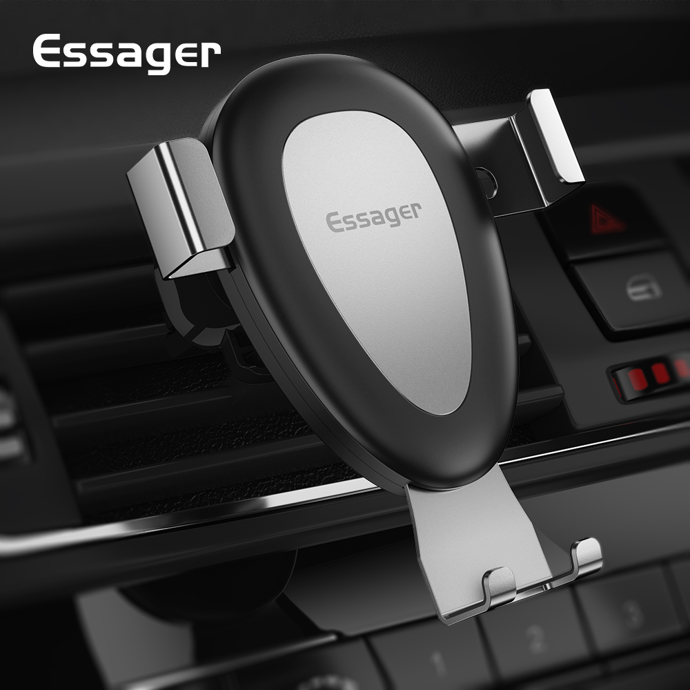 Essager Gravity Car Phone Holder For IPhone Cellphone Mobile Phone Holder Var Air Vent Mount Holder Support Smartphone Stand