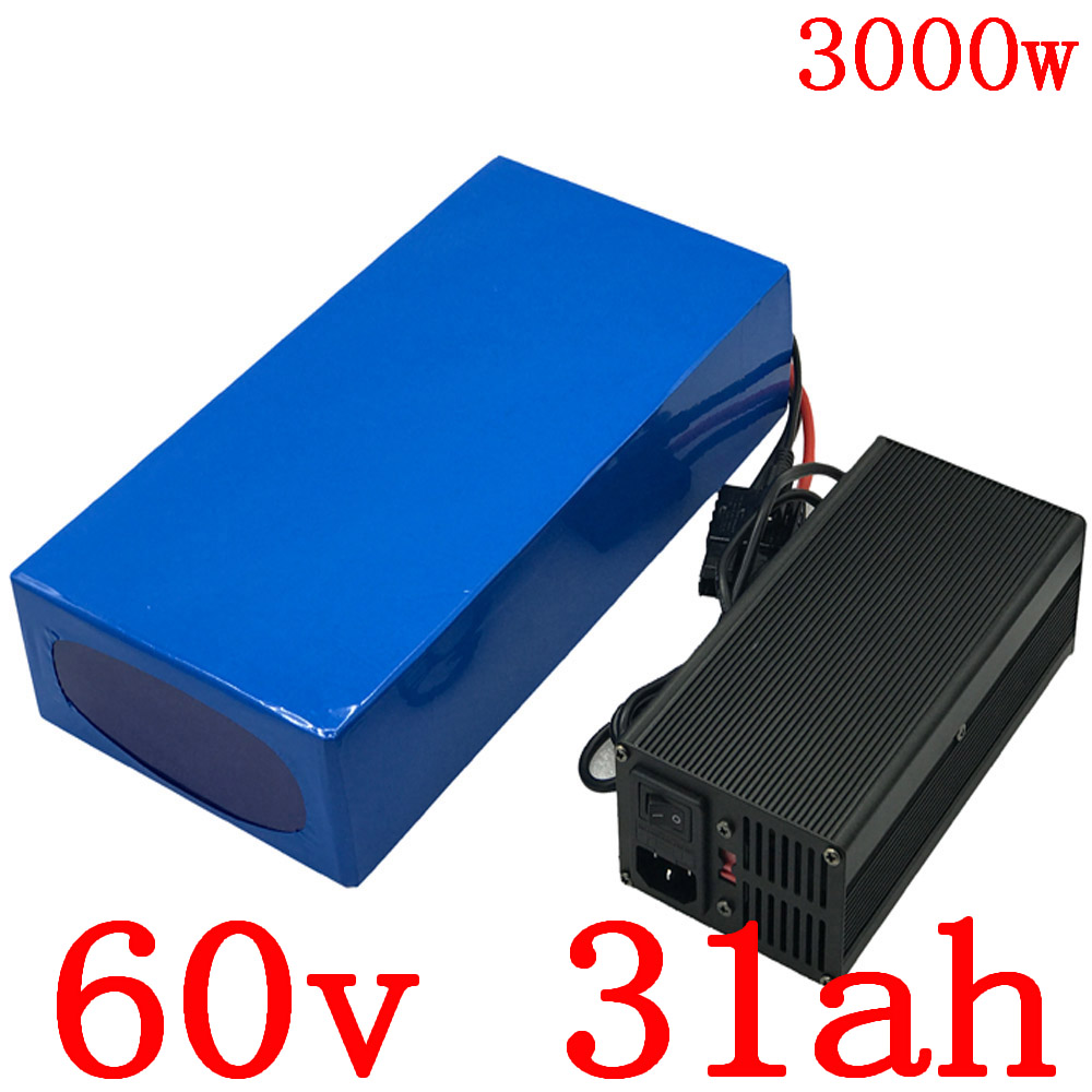 60V use samsung cell Lithium Battery 60V 30AH Electric Bicycle battery 60V 2500W 3000W Scooter Battery with 67.2V 5A charger