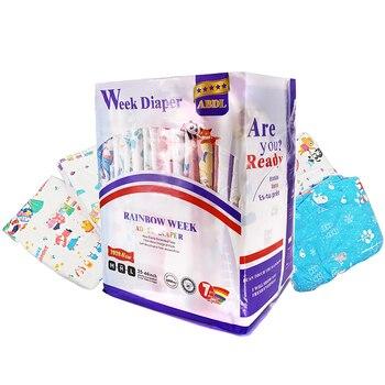 Pañal semanal TEN @ NIGHT Rainbow ABDL 6000ML Volumen Extra grande pañal de tamaño cintura elástica DDLG pañales diferentes 7 Uds en un paquete