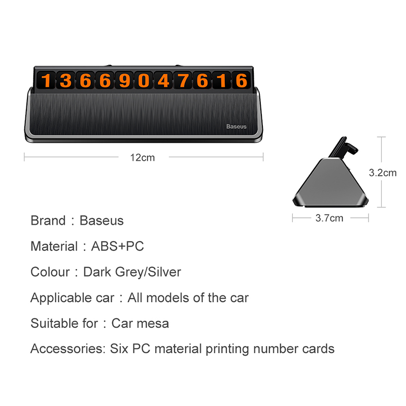 Image 5 - Baseus Car Styling Sticker Temporary Car Parking Phone Number Card Plate Car Park Stop Car styling Automobile Accessories-in Car Stickers from Automobiles & Motorcycles